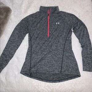 Under Armour Gray Half-Zip Workout Top